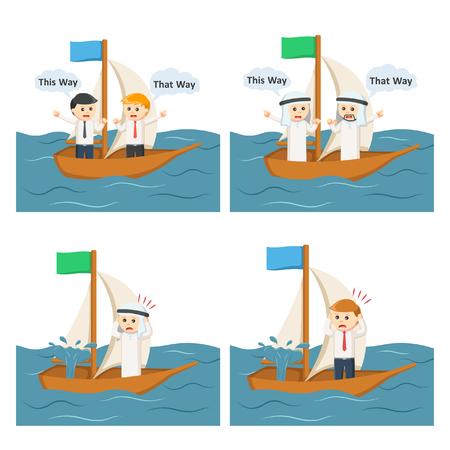 argumentation: business people sailing set 2 Illustration