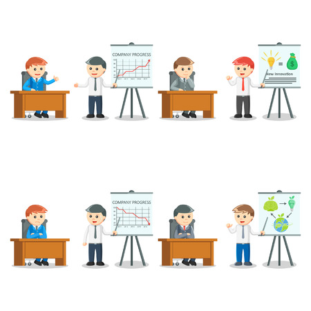 inovation: businessman presentation set illustration design Illustration