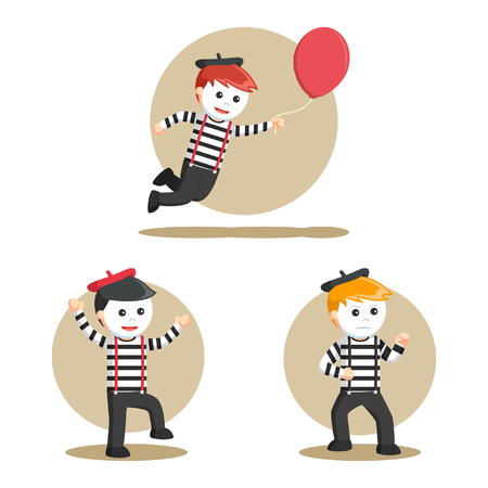 mimo: mime people set illustration design Vectores