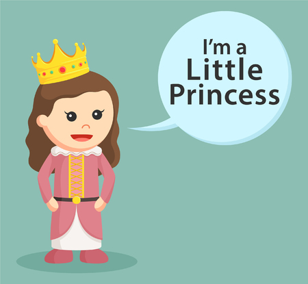royal person: little princess with callout