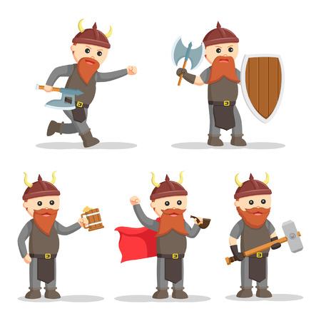 dwarf warrior set illustration design