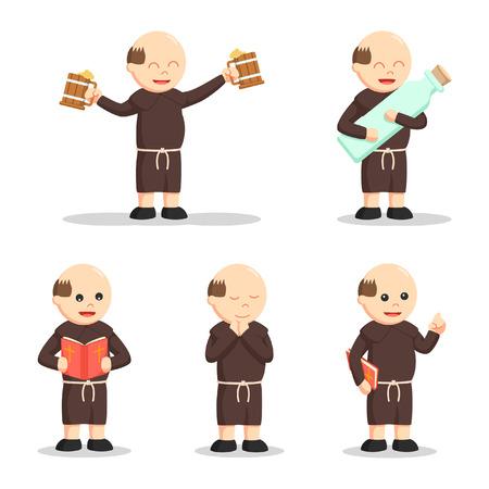 christian monk people set