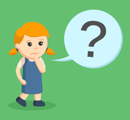 little girl with question mark callout