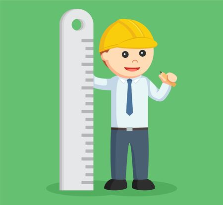 engineer with big ruler