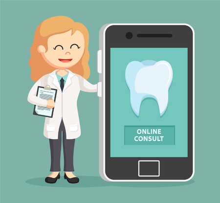 consult: woman dentist online consult