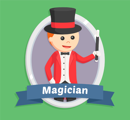 magus: magician in emblem illustration design