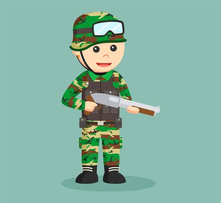 army man with shotgun