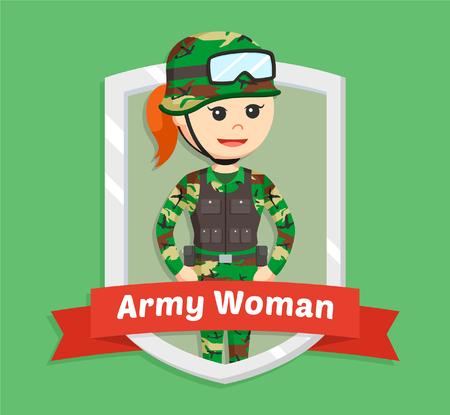 militant: army woman in emblem