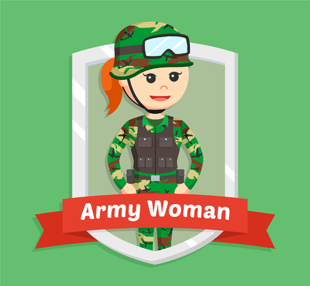 army woman in emblem