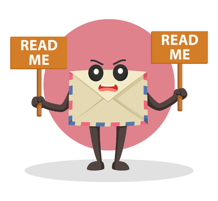 me: envelope with read me signs