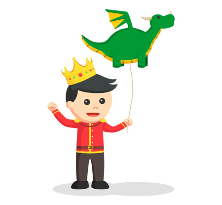 little prince with dragon balloon