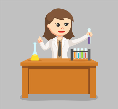 woman scientist creating new formula