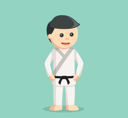 strong men: karate man illustration design