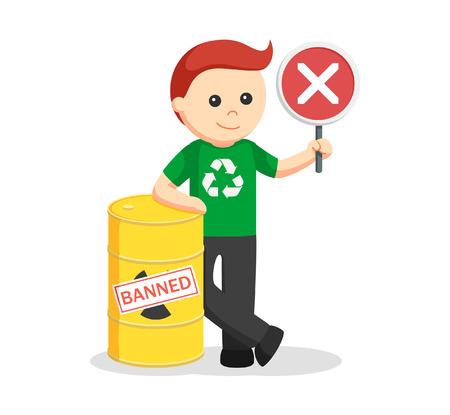 anti nuclear: Man environmental activist banned toxic waste