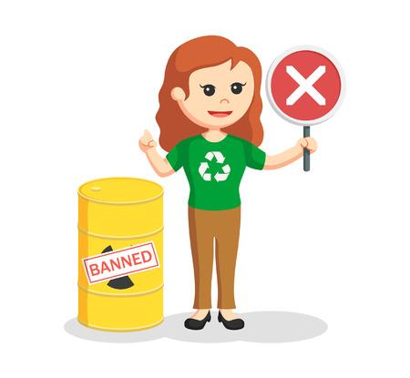 forbidden city: Woman environmental activist banned toxic waste