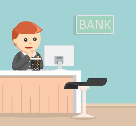 Bank teller illustration design