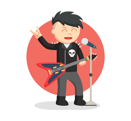 Male rock singer Illustration