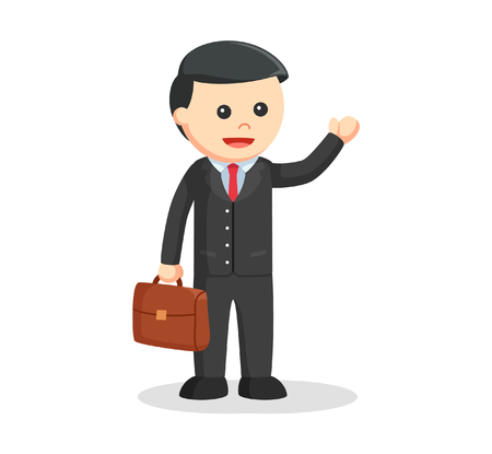 law suit: male lawyer with briefcase Illustration