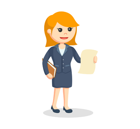 signing papers: female lawyer with legal documents