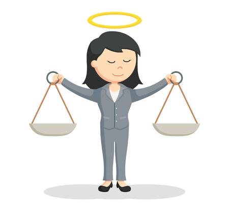 Honesto femenino diseño de ilustración de abogado Ilustración de vector