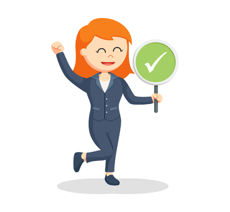 female lawyer with checklist sign