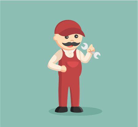 man: fat plumber illustration design