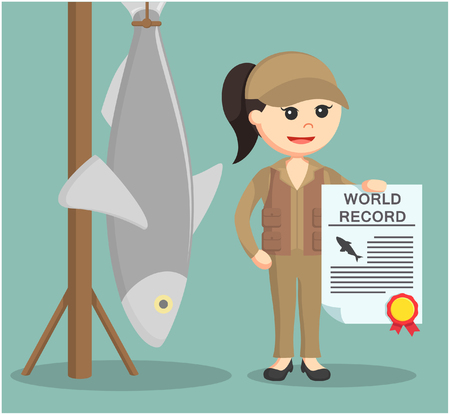 Certificat de maintien de la femme pêcheur