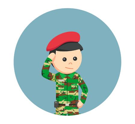 militant: army man saluting
