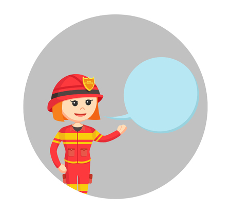 callout: fire woman with callout
