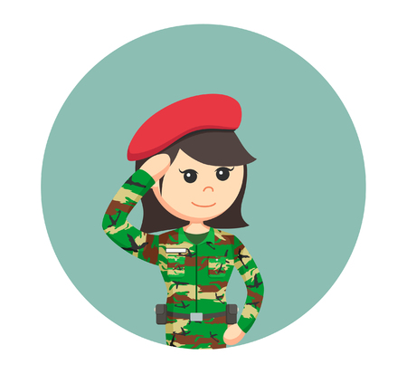 invader: army woman saluting