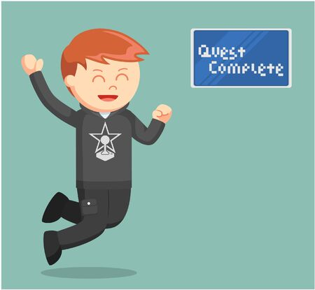 quest: rpg gamer quest complete Illustration