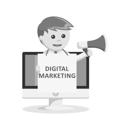 digital marketing: black and white businessman digital marketing