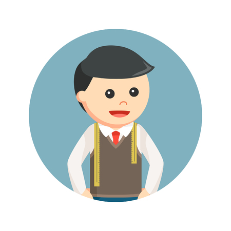 tailor in circle background Illustration