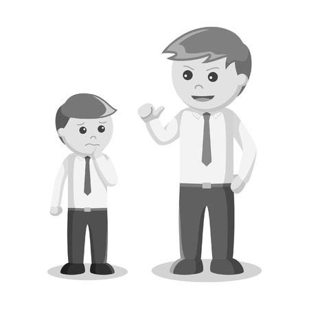 intimidate: black and white businessman intimidate his partner black and white style