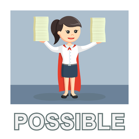 Businesswoman possible photo text style