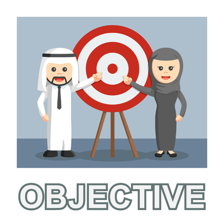Arab business objective photo text style