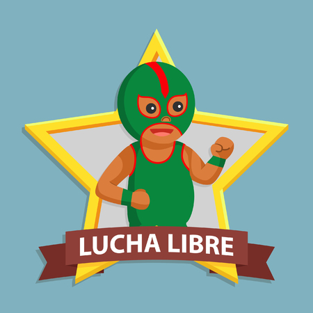 African lucha libre in emblem