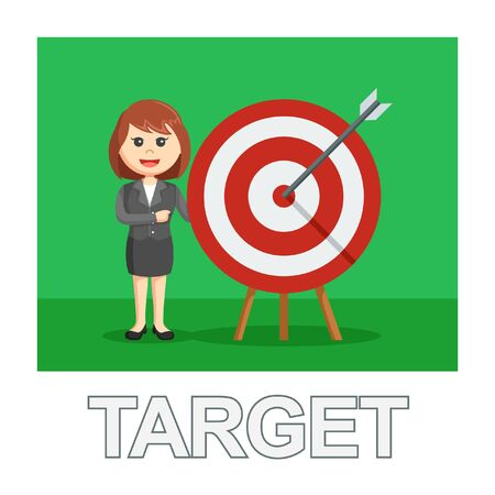 businesswoman target photo text style