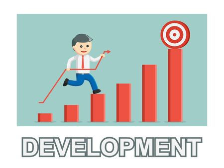 Businessman development photo text style