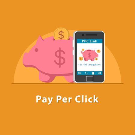 SEO PPC link in smartphone