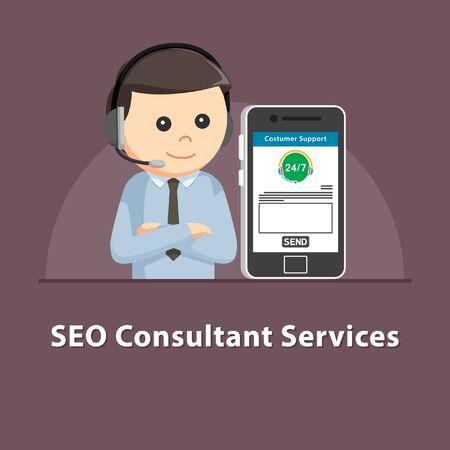 SEO Consultant-diensten in smartphone