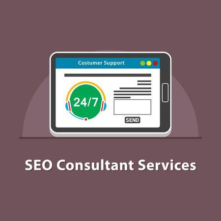 SEO Consultant-diensten in tablet
