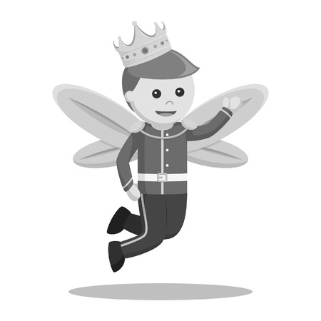 Prince fairy black and white style