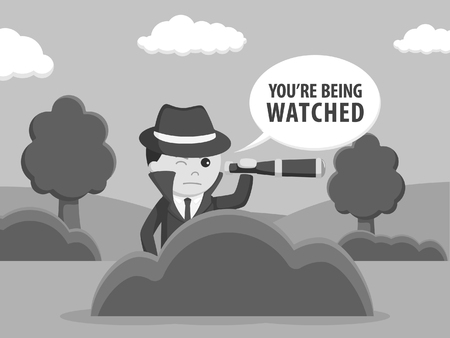 Spy observation and callout black and white style