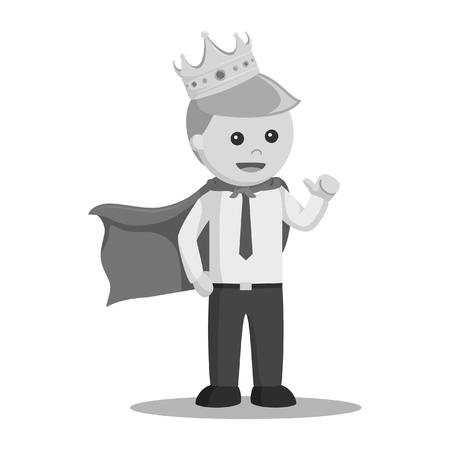 King businessman vector illustration Çizim