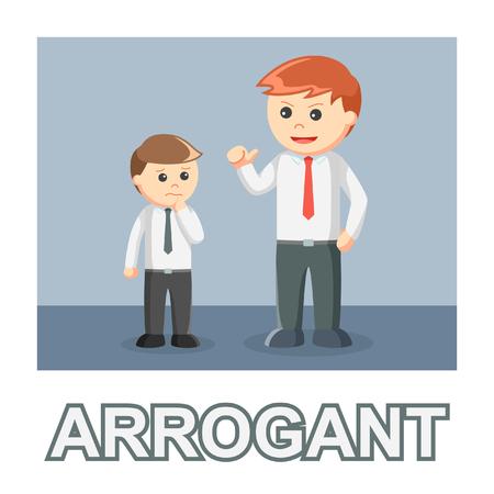 businessman arrogant photo text style