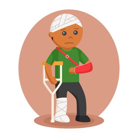african man badly injury