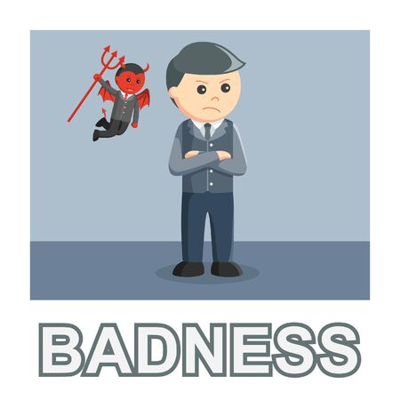 businessman badness photo text style