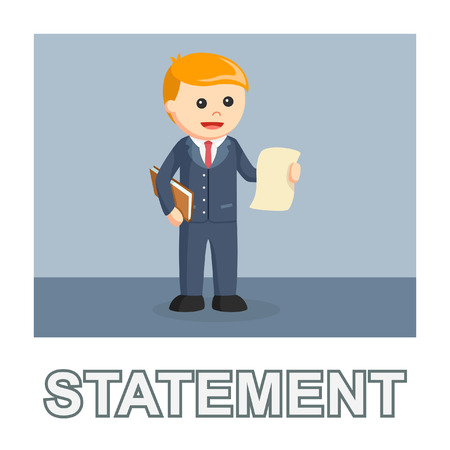 businessman statement photo text style