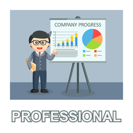 businessman professional photo text style Vectores